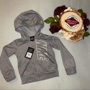 🌻NWT Girls Grey Nike Hoodie with Sparkly Nike